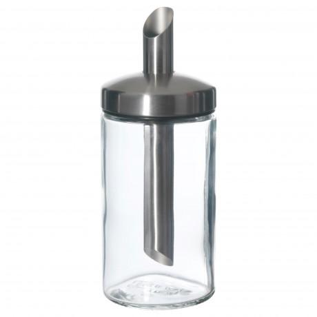 Дозатор сахара ДОЛЬД прозрачное стекло, нержавеющ сталь фото 3