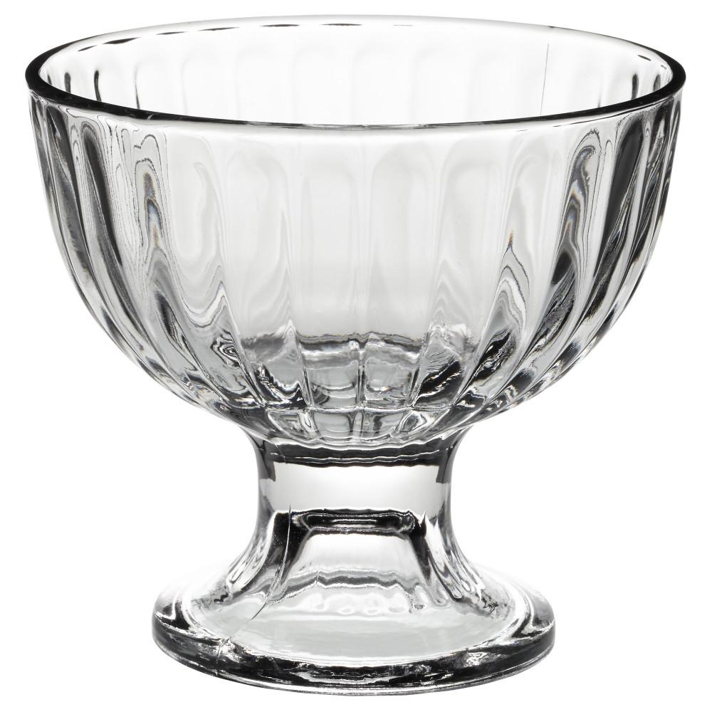 Миска десертная ДИСТРИКТ прозрачное стекло  фото 1