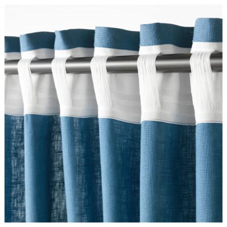 Гардины, 1 пара АЙНА синий фото 4